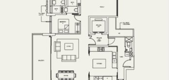 the-avenir-type-4+1-a-floor-plan-Singapore